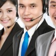 call center employee — Stock Photo
