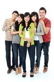 группа азиатских друга — Стоковое фото