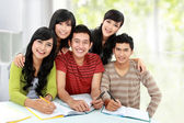 Friendly group of students — Stock Photo