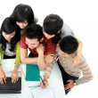 Students with laptop — Stock Photo #14684317