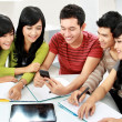 Students with handphone — Stock Photo #14684387