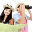 Happy teenager tourist — Stock Photo