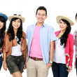 Group of young tourist — Stock Photo #16301745