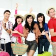 Happy young tourists — Stock Photo #16301789