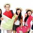 Groups of tourists — Stock Photo
