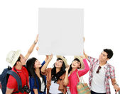 Grupa młodych turystów — Zdjęcie stockowe