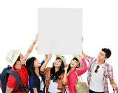 Skupina mladých turistů — Stock fotografie