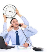 Businessman busy multitasking — Foto Stock
