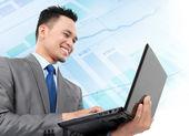Анализ бизнес-мужчина — Стоковое фото