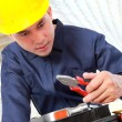 Worker prepare equipment - Foto de Stock