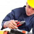Worker prepare equipment — Stock Photo