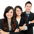 Man and woman office worker smiling — Stock Photo #17998913