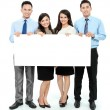 Stock Photo: Business team with big blank card