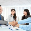 Business team making a deal — Stock Photo