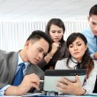 Group of business meeting with laptop - Stock Photo