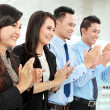 Clapping office workers — Stock Photo #17999151