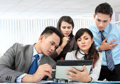 Group of business meeting with laptop — Stock Photo