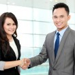 Business team shaking hands — Stock Photo #19174389