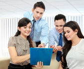 Business team discussing — Stock Photo