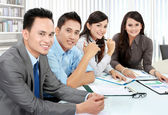 Portrait of group executives — Stock Photo