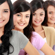 Group of beautiful women smiling — Stock Photo #19846937