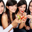 Womhaving salad together — Stock Photo #19847207