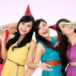 Beautiful girls celebrate birthday - Stockfoto