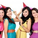 Beautiful girls celebrate birthday — Stock Photo #19847341