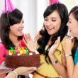 Beautiful woman celebrate birthday — Stock Photo