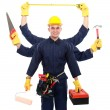 Stock Photo: Industrial worker ready to work