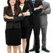 Portrait of office workers smiling - Stockfoto