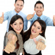 Stock Photo: Good job, business with thumbs up