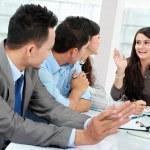 Businesswoman talking during meeting — Stock Photo #19848655