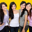 Group of beautiful women smiling together — Stock Photo