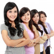 Stock Photo: Group of beautiful women smiling
