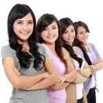 Group of beautiful women smiling — Stock Photo
