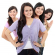 Group of beautiful women smiling — Stock Photo