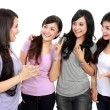 Group of women friends chatting — Stock Photo