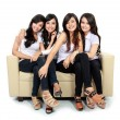 Beautiful girl friend together portrait — Foto de Stock