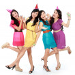 Beautiful girls celebrate birthday — Stock Photo #19849529