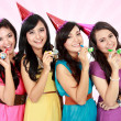 Beautiful girls celebrate birthday — Stock Photo #19849763