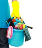 Servicio de limpieza masculino — Foto de Stock