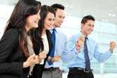Excited group of business — Stock Photo
