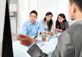 Business presentation in the office — Stock Photo