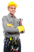 Worker ready to work — Stock Photo