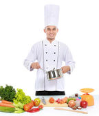 Male chef cooking — Stock Photo