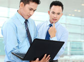 Two businessman meeting — Stock Photo