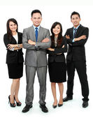 Business team isolated on white — Stock Photo