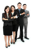 Portrait of office workers smiling — Stock Photo