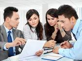 Team business meeting — Stok fotoğraf